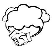 Concept de soutien de nuage Photographie stock