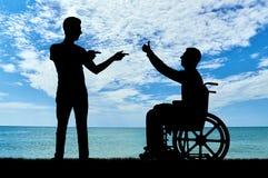 Concept de soutien des personnes handicapées Photo libre de droits