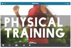 Concept de sport de Body Gym Health d'entraîneur de formation physique images libres de droits