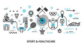 Concept de sport et de mode de vie sain Image libre de droits