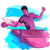 Concept de sportif jouant le ping-pong Photos libres de droits
