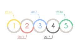 Concept de statistique de diagramme de progrès Calibre d'Infographic pour la présentation Diagramme statistique de chronologie Pr Photographie stock libre de droits