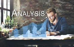 Concept de statistiques commerciales d'Analytics d'analyse Image libre de droits