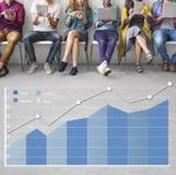 Concept de statistiques commerciales d'Analytics d'analyse Photographie stock