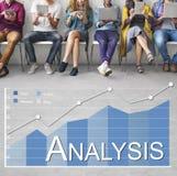 Concept de statistiques commerciales d'Analytics d'analyse Photographie stock libre de droits
