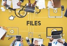 Concept de stockage de dispositifs d'informations sur les données de dossiers photo libre de droits