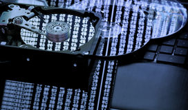 Concept de stockage de l'information Images libres de droits