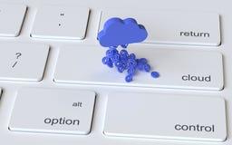 Concept de stockage de nuage Photographie stock libre de droits