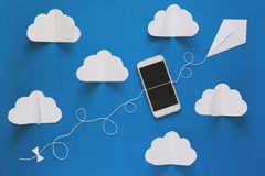 Concept de storage technology de connexion réseau et de nuage Concept de communications de données et de réseau informatique de n Image stock