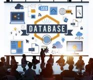 Concept de storage technology de serveur d'informations de base de données Images libres de droits