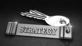 Concept de stratégie commerciale Images libres de droits