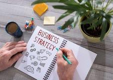 Concept de stratégie commerciale sur un bloc-notes illustration de vecteur