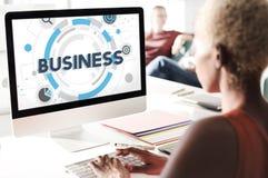 Concept de stratégie corporate d'organisation de société commerciale images stock