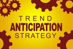 Concept de stratégie d'anticipation de tendance illustration de vecteur