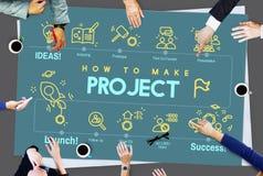 Concept de stratégie d'opération de prévision d'entreprise de projet Photo stock