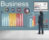 Concept de stratégie de données de statistiques commerciales d'Analytics Images stock