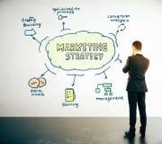 Concept de stratégie marketing Photos libres de droits