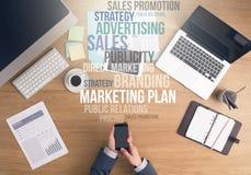 Concept de stratégies marketing photos libres de droits