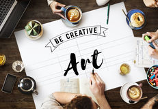Concept de style d'Art Creation Craft Exhibition Imagination image libre de droits