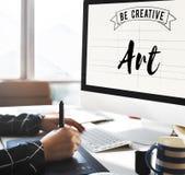 Concept de style d'Art Creation Craft Exhibition Imagination Photos libres de droits