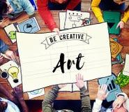 Concept de style d'Art Creation Craft Exhibition Imagination images libres de droits