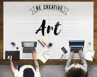 Concept de style d'Art Creation Craft Exhibition Imagination photos stock
