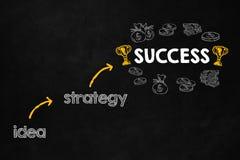 Concept de succès avec le copyspace Images stock