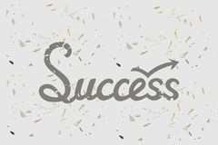 Concept de succès avec le mot tiré par la main de lettrage Photos libres de droits
