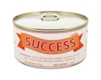 Concept de succès. Boîte en fer blanc. Photos libres de droits
