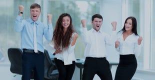 Concept de succès dans les affaires : position réussie d'équipe d'affaires Image libre de droits