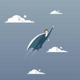 Concept de succès de cap de Fly Wear Hero d'homme d'affaires Image stock