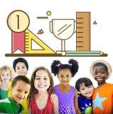 Concept de succès de croissance de la connaissance d'éducation de développement de l'enfant illustration de vecteur