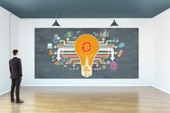 Concept de succès et d'innovation Photographie stock