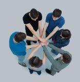 Concept de succès et de fiabilité - une équipe d'université studen Images libres de droits