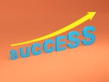 Concept de succès - image du rendu 3D Image stock