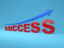 Concept de succès - image du rendu 3D Photos stock