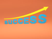 Concept de succès - image du rendu 3D Images libres de droits