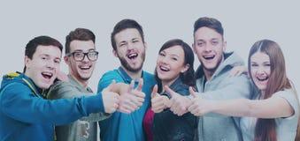 Concept de succès - plan rapproché une équipe réussie d'Unive gai Images libres de droits