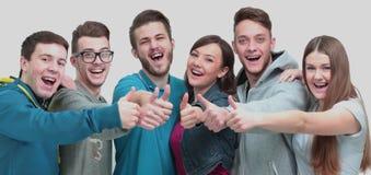Concept de succès - plan rapproché une équipe réussie d'Unive gai Photos libres de droits