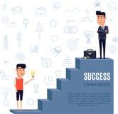 Concept de succès plat illustration de vecteur