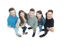 Concept de succès - une équipe d'étudiants se tenant après Photo stock