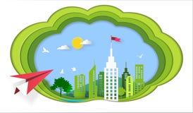 Concept de succès, vol plat rouge sur le ciel au bâtiment architectural avec un drapeau sur le dessus, symbole de succès, but, ac Photos stock