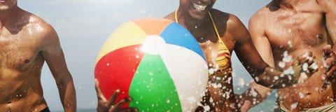 Concept de Sunny Vacation Leisure Holiday Friends de mer photo libre de droits