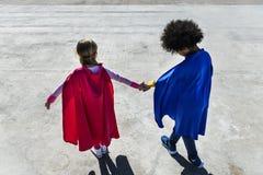 Concept de superhéros d'enfance d'enfants Image libre de droits