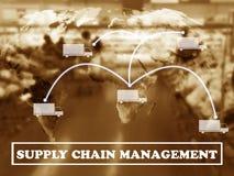 Concept de supply chain management image libre de droits