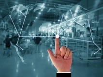 Concept de supply chain management photo stock