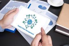 Concept de supply chain management de SCM Image stock