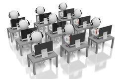 concept de support à la clientèle 3D Images libres de droits