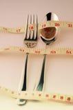 Concept de surveillance du poids par le contrôle de régime Photo stock