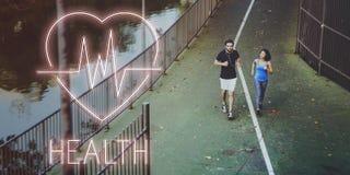 Concept de symbole d'icône de battement de coeur de santé Images stock